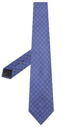 Мужской шелковый галстук CANALI синего цвета, арт. 18/HJ02559   Фото 2