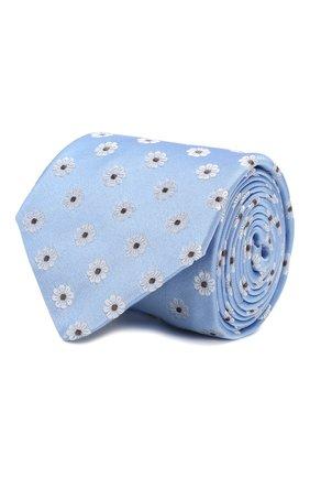 Мужской шелковый галстук CANALI голубого цвета, арт. 18/HJ02560   Фото 1