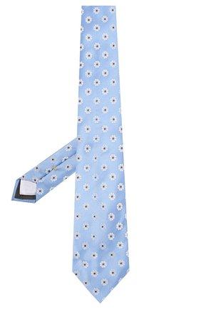 Мужской шелковый галстук CANALI голубого цвета, арт. 18/HJ02560   Фото 2