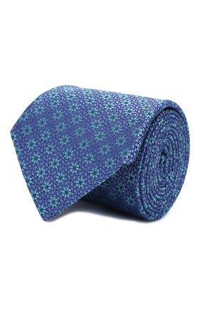 Мужской шелковый галстук CANALI голубого цвета, арт. 18/HJ02564   Фото 1