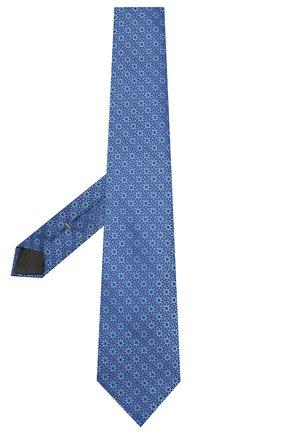 Мужской шелковый галстук CANALI голубого цвета, арт. 18/HJ02564   Фото 2
