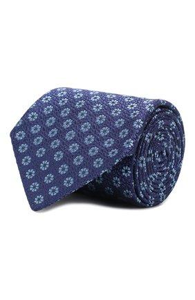 Мужской шелковый галстук CANALI синего цвета, арт. 18/HJ02564   Фото 1