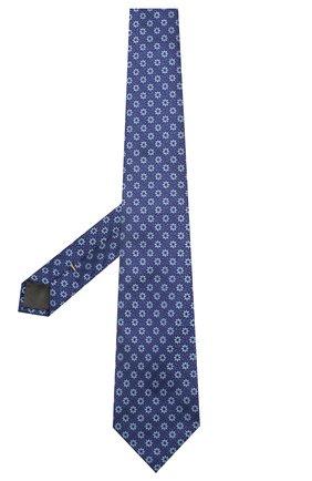 Мужской шелковый галстук CANALI синего цвета, арт. 18/HJ02564   Фото 2