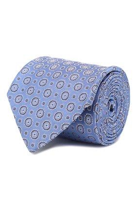 Мужской шелковый галстук CANALI голубого цвета, арт. 18/HJ02566   Фото 1
