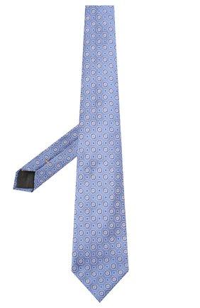 Мужской шелковый галстук CANALI голубого цвета, арт. 18/HJ02566   Фото 2