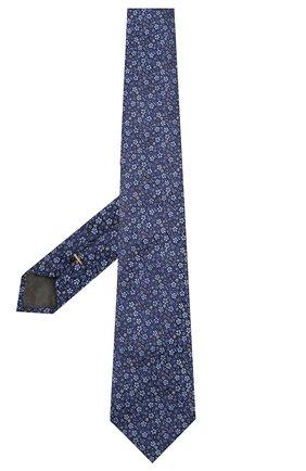 Мужской шелковый галстук CANALI темно-синего цвета, арт. 18/HJ02575   Фото 2