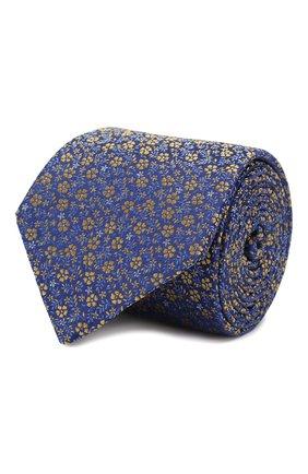 Мужской шелковый галстук CANALI синего цвета, арт. 18/HJ02575   Фото 1