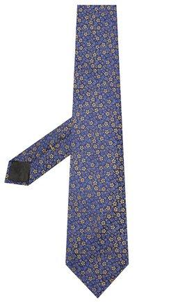 Мужской шелковый галстук CANALI синего цвета, арт. 18/HJ02575   Фото 2