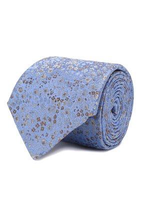 Мужской шелковый галстук CANALI голубого цвета, арт. 18/HJ02580   Фото 1
