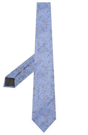 Мужской шелковый галстук CANALI голубого цвета, арт. 18/HJ02580   Фото 2