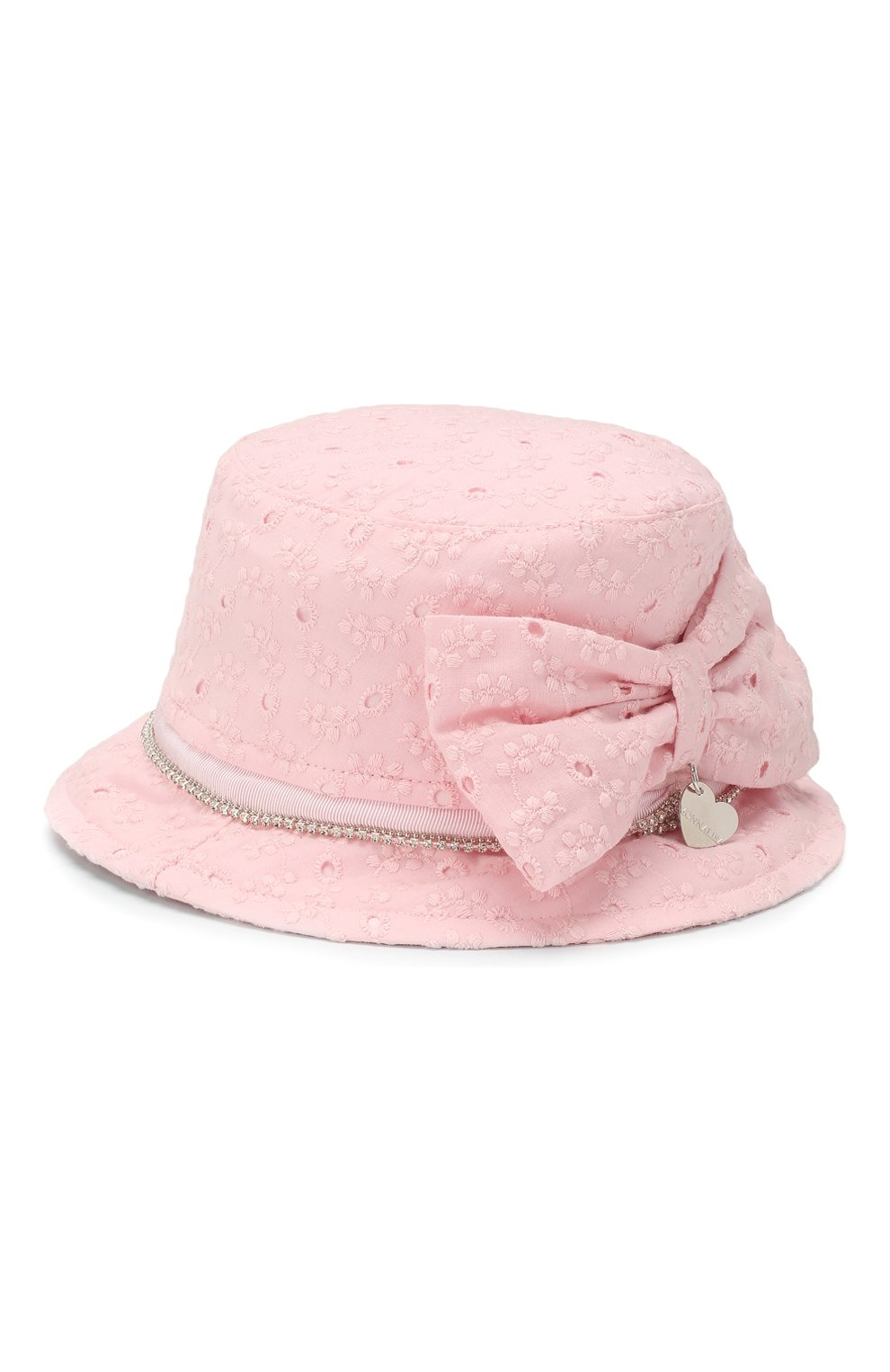 Детская панама MONNALISA розового цвета, арт. 395015 | Фото 2