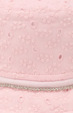 Детская панама MONNALISA розового цвета, арт. 395015 | Фото 3