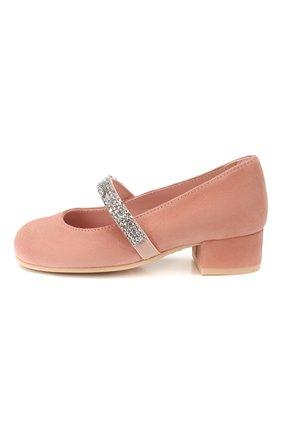 Детские замшевые туфли PRETTY BALLERINAS бежевого цвета, арт. 48.788/ANGELIS | Фото 2