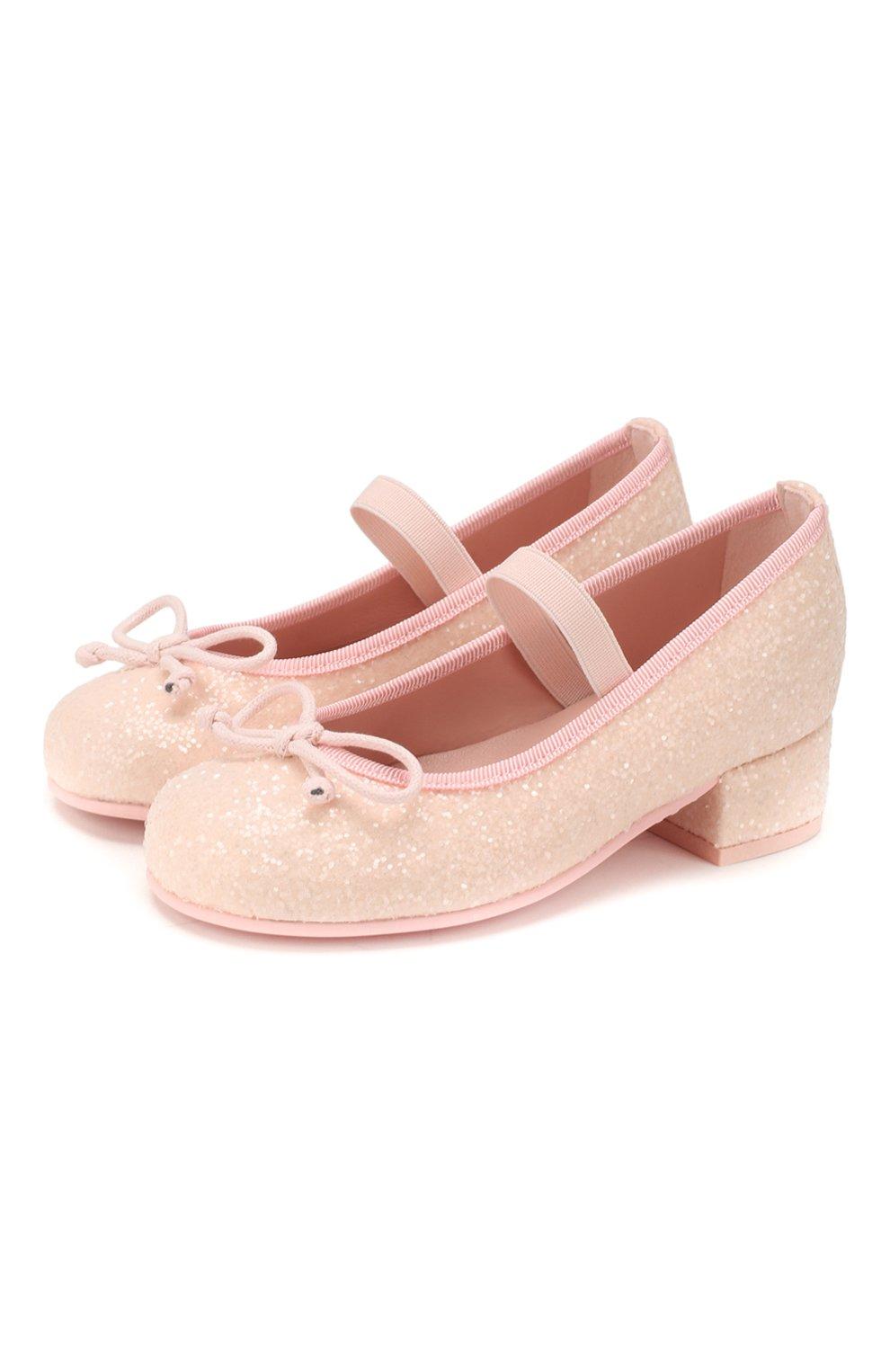 Детские туфли PRETTY BALLERINAS светло-розового цвета, арт. 48.807/BELLE | Фото 1