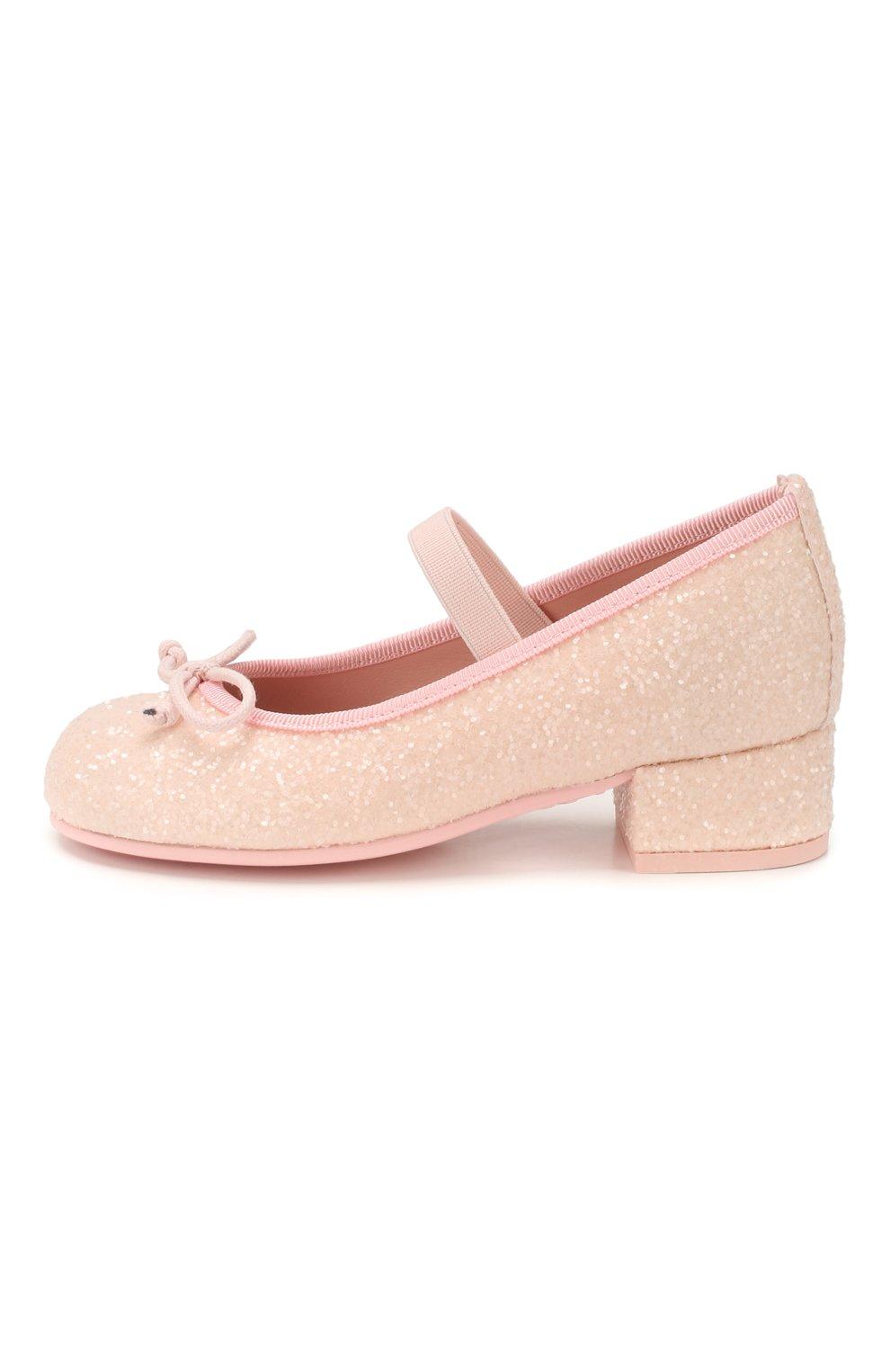 Детские туфли PRETTY BALLERINAS светло-розового цвета, арт. 48.807/BELLE | Фото 2
