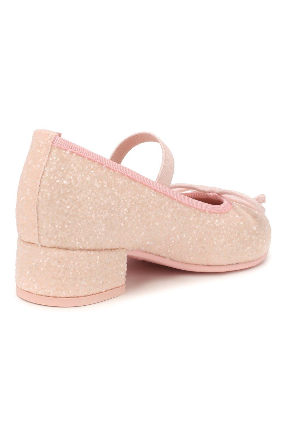 Детские туфли PRETTY BALLERINAS светло-розового цвета, арт. 48.807/BELLE | Фото 3