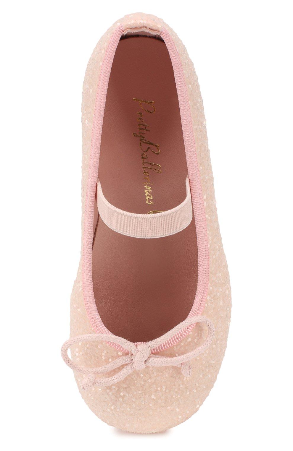Детские туфли PRETTY BALLERINAS светло-розового цвета, арт. 48.807/BELLE | Фото 4