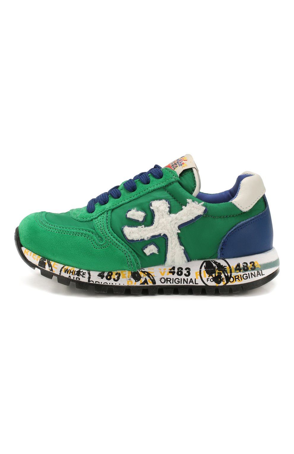 Детские кроссовки PREMIATA WILL BE зеленого цвета, арт. MICK/1351/CHILD | Фото 2 (Материал внешний: Текстиль; Материал внутренний: Натуральная кожа)