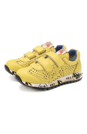 Детские кроссовки PREMIATA WILL BE желтого цвета, арт. LUCY V/1432/CHILD | Фото 1