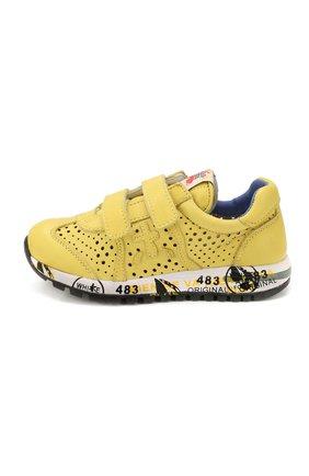 Детские кроссовки PREMIATA WILL BE желтого цвета, арт. LUCY V/1432/CHILD | Фото 2