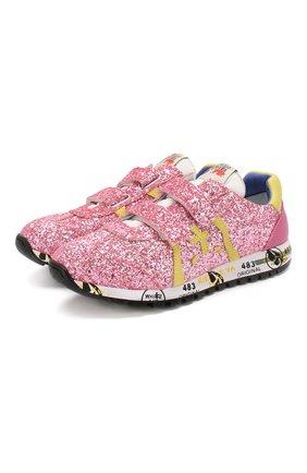Детские кроссовки PREMIATA WILL BE розового цвета, арт. LUCY V/1402/JUN | Фото 1