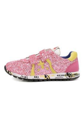 Детские кроссовки PREMIATA WILL BE розового цвета, арт. LUCY V/1402/JUN | Фото 2