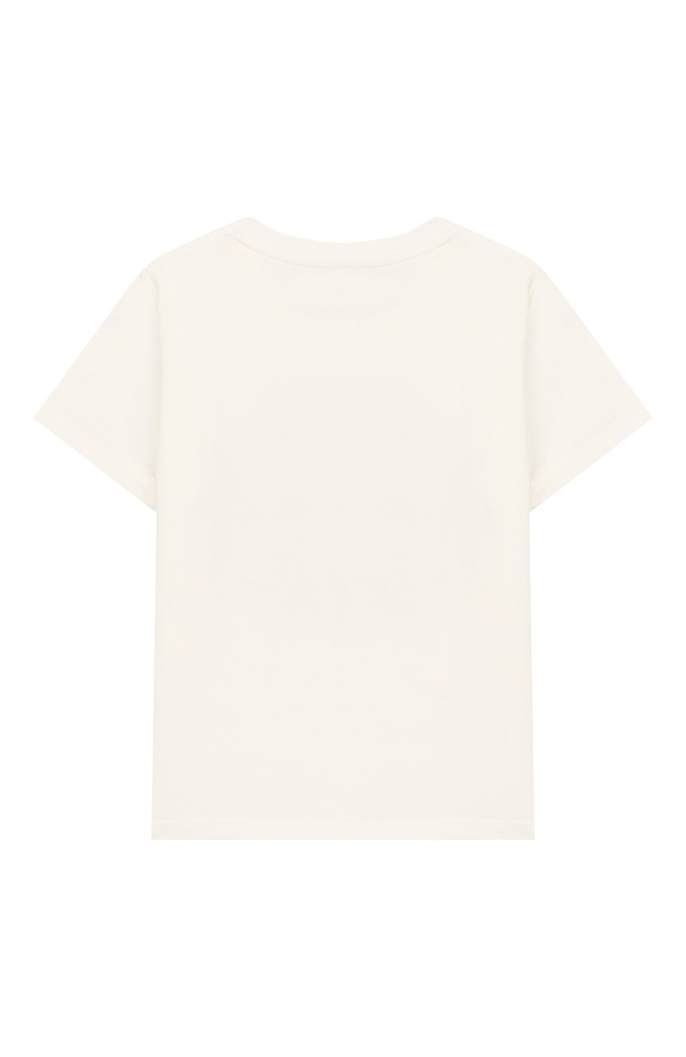Детский хлопковая футболка VERSACE белого цвета, арт. YA000154/YA00019 | Фото 2