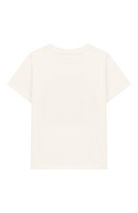 Детский хлопковая футболка VERSACE белого цвета, арт. YB000136/YA00019 | Фото 2
