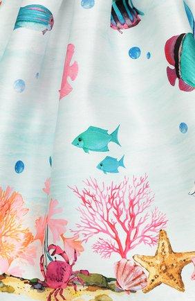 Детское платье EIRENE голубого цвета, арт. 202097 | Фото 3 (Рукава: Короткие; Случай: Повседневный; Материал внешний: Синтетический материал; Материал подклада: Хлопок)