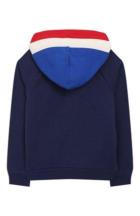 Детский хлопковая толстовка MONCLER синего цвета, арт. F1-954-8G706-20-809AG/4-6A | Фото 2