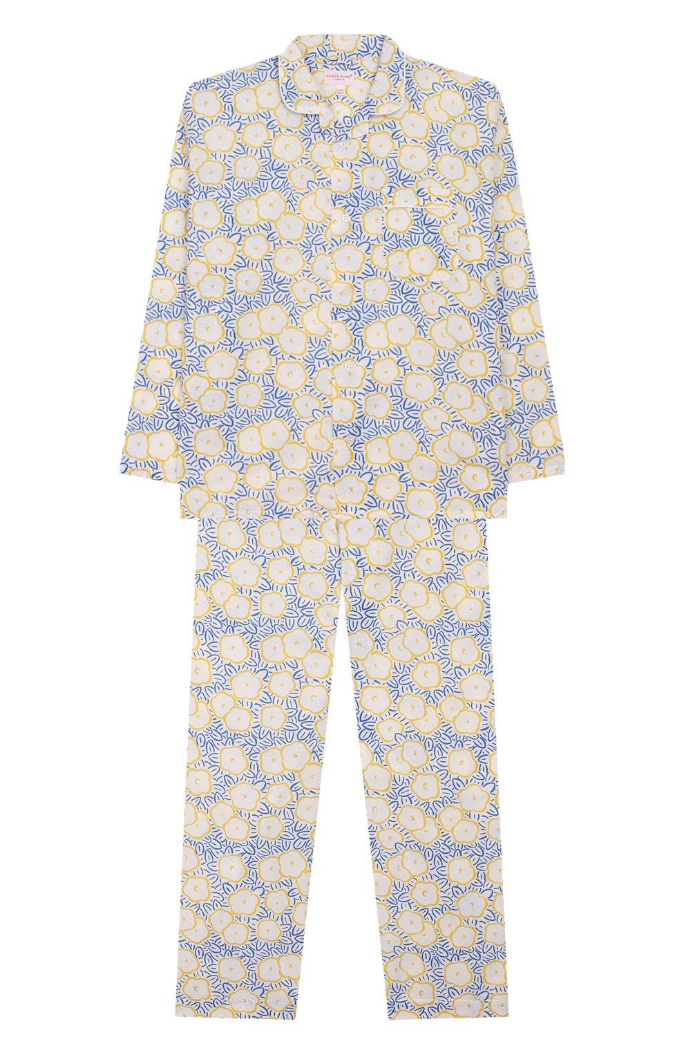 Детская хлопковая пижама DEREK ROSE белого цвета, арт. 7025-LEDB033/3-12   Фото 1