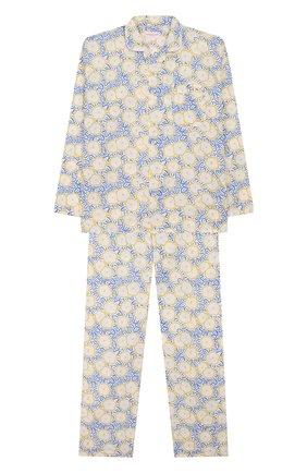 Детская хлопковая пижама DEREK ROSE белого цвета, арт. 7025-LEDB033/3-12 | Фото 1