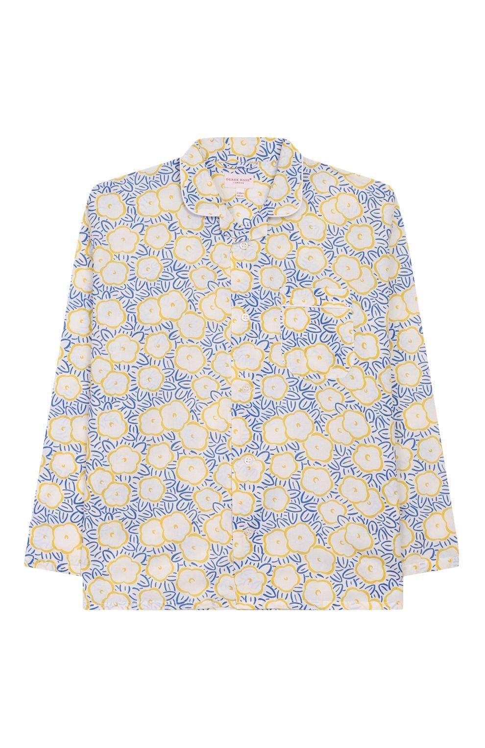 Детская хлопковая пижама DEREK ROSE белого цвета, арт. 7025-LEDB033/3-12   Фото 2