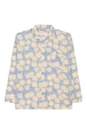 Детская хлопковая пижама DEREK ROSE белого цвета, арт. 7025-LEDB033/3-12 | Фото 2