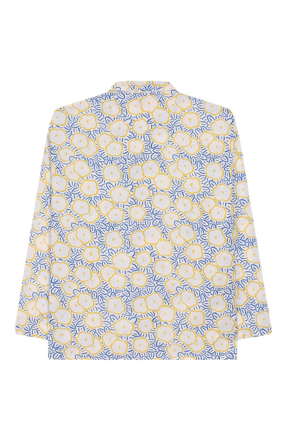 Детская хлопковая пижама DEREK ROSE белого цвета, арт. 7025-LEDB033/3-12   Фото 3