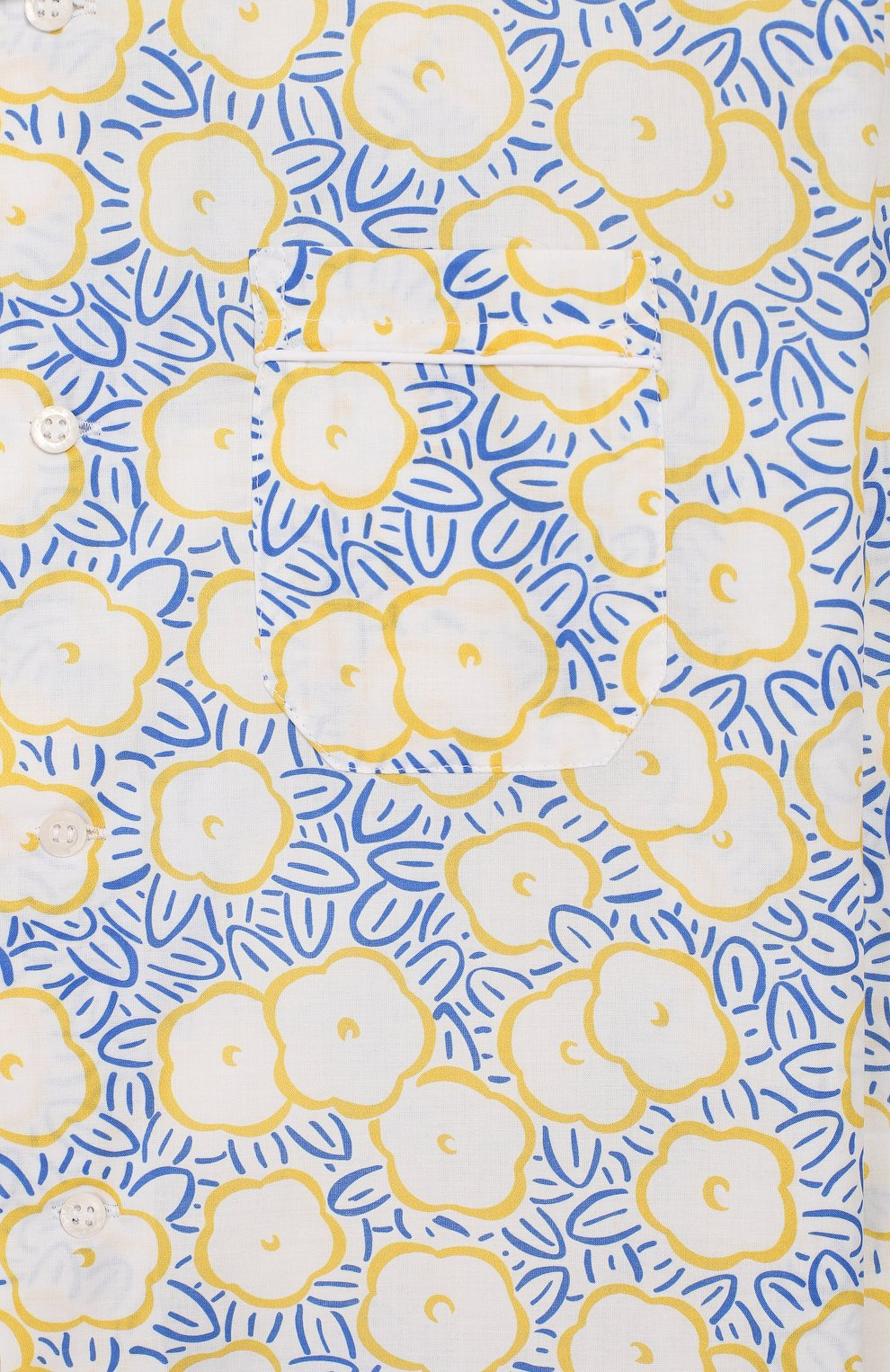 Детская хлопковая пижама DEREK ROSE белого цвета, арт. 7025-LEDB033/3-12   Фото 6