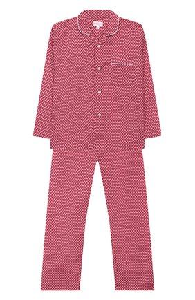 Детская хлопковая пижама DEREK ROSE розового цвета, арт. 7025-LEDB031/3-12 | Фото 1