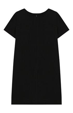 Детское хлопковое платье MOSCHINO KID черного цвета, арт. HAV088/LDA12/4A-8A | Фото 2