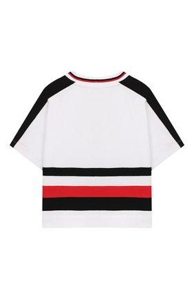 Детская хлопковая футболка BURBERRY разноцветного цвета, арт. 8025945 | Фото 2