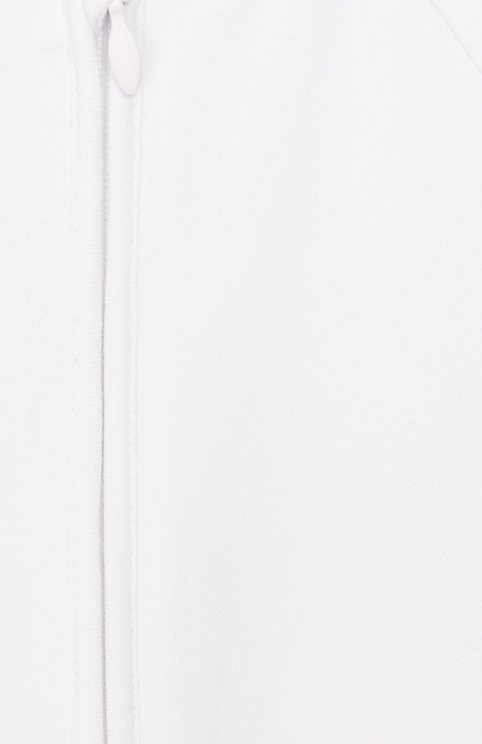 Детский комплект из комбинезона и шапки BURBERRY белого цвета, арт. 8025502   Фото 3