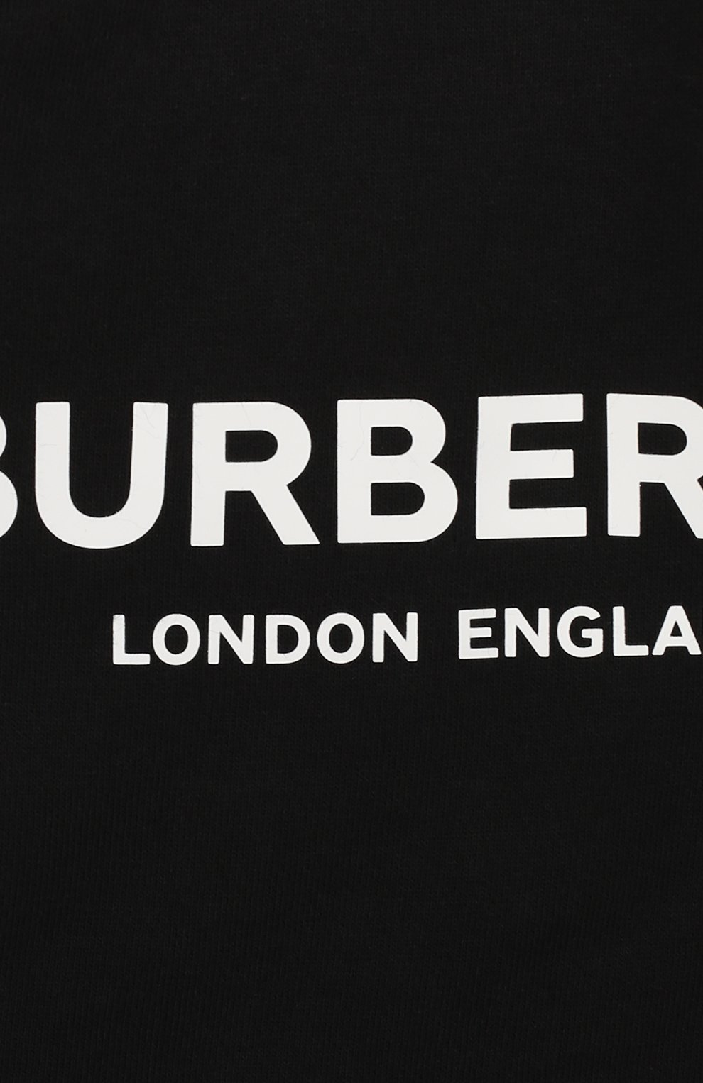 Детский хлопковый комбинезон BURBERRY черного цвета, арт. 8025351 | Фото 3