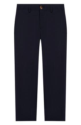 Детские шерстяные брюки BURBERRY темно-синего цвета, арт. 8022414 | Фото 1