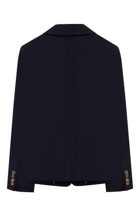 Детский шерстяной пиджак BURBERRY темно-синего цвета, арт. 8022412 | Фото 2