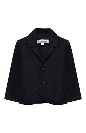 Детский льняной пиджак TARTINE ET CHOCOLAT синего цвета, арт. TQ40041/1M-1A | Фото 1
