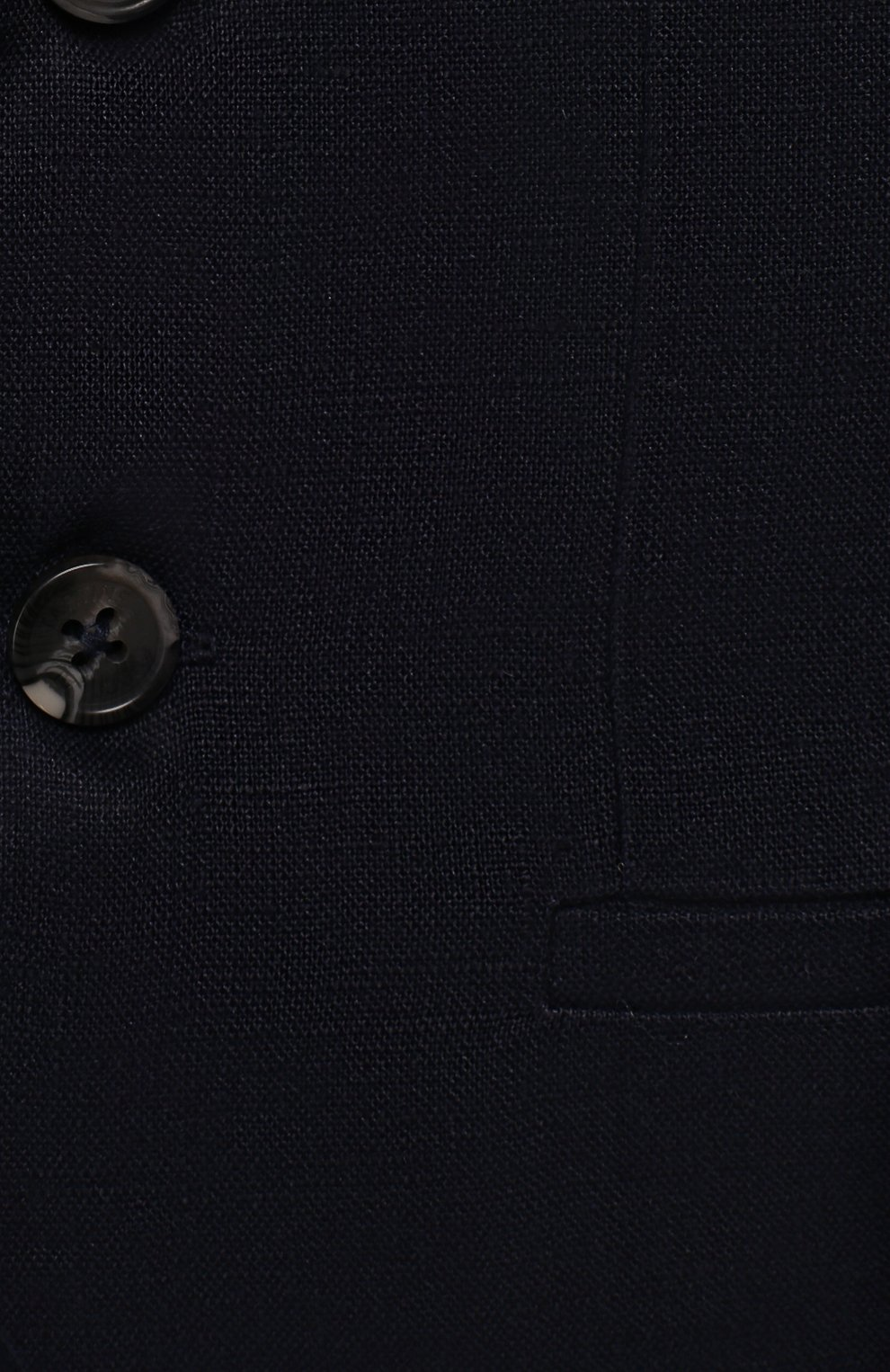 Детский льняной пиджак TARTINE ET CHOCOLAT синего цвета, арт. TQ40041/1M-1A   Фото 3