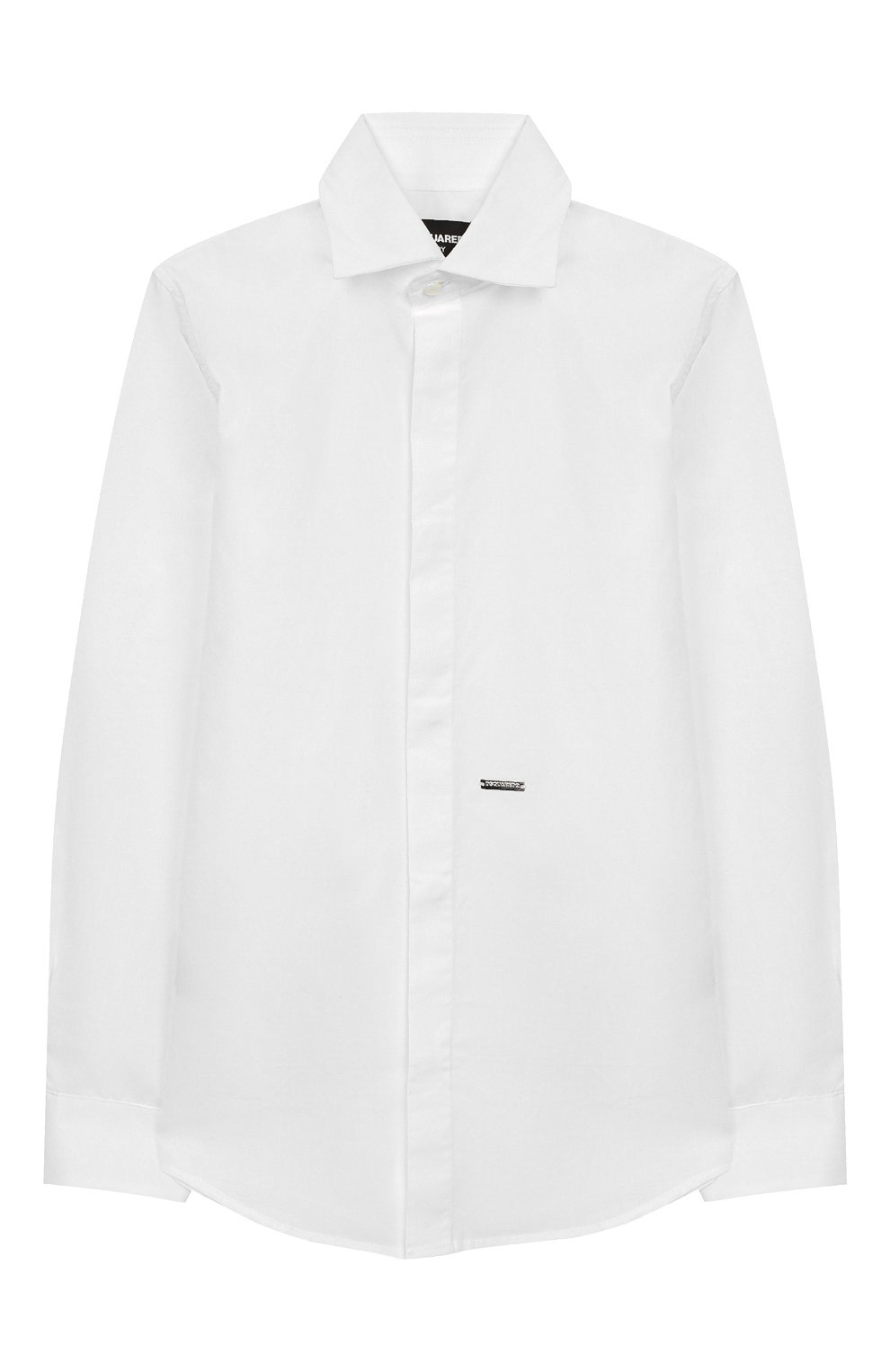 Детская хлопковая рубашка DSQUARED2 белого цвета, арт. DQ043I-D00XE | Фото 1