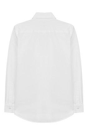 Детская хлопковая рубашка DSQUARED2 белого цвета, арт. DQ043I-D00XE | Фото 2