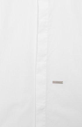 Детская хлопковая рубашка DSQUARED2 белого цвета, арт. DQ043I-D00XE | Фото 3