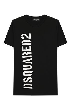 Детская хлопковая футболка DSQUARED2 черного цвета, арт. DQ03W6-D00W5 | Фото 1