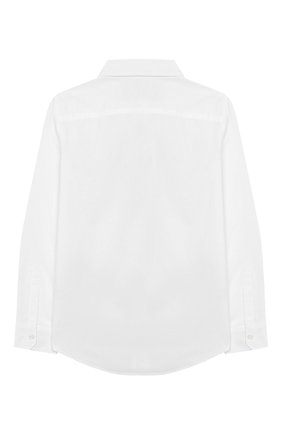 Детская хлопковая рубашка DSQUARED2 белого цвета, арт. DQ03W1-D00XE | Фото 2